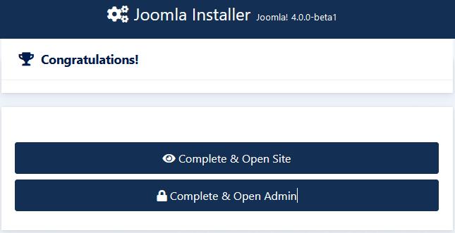 JoomlaInstallerCongratulations.png